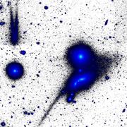 'אקשן' בשמים: אסטרונומים במצפה הכוכבים וייז של אוניברסיטת תל אביב במצפה רמון גילו עדויות ל'טרף' של גלקסיה בידי שכנותיה