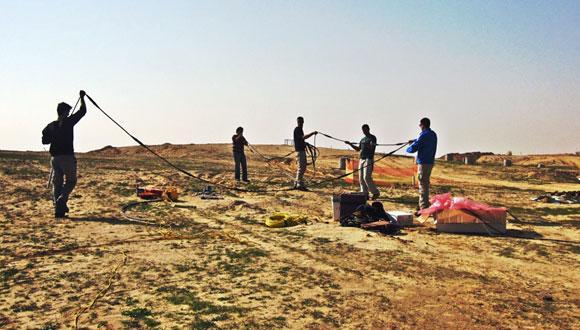 מרכז לחקר תת-הקרקע - ניסוי הידרופונים בקידוח מים